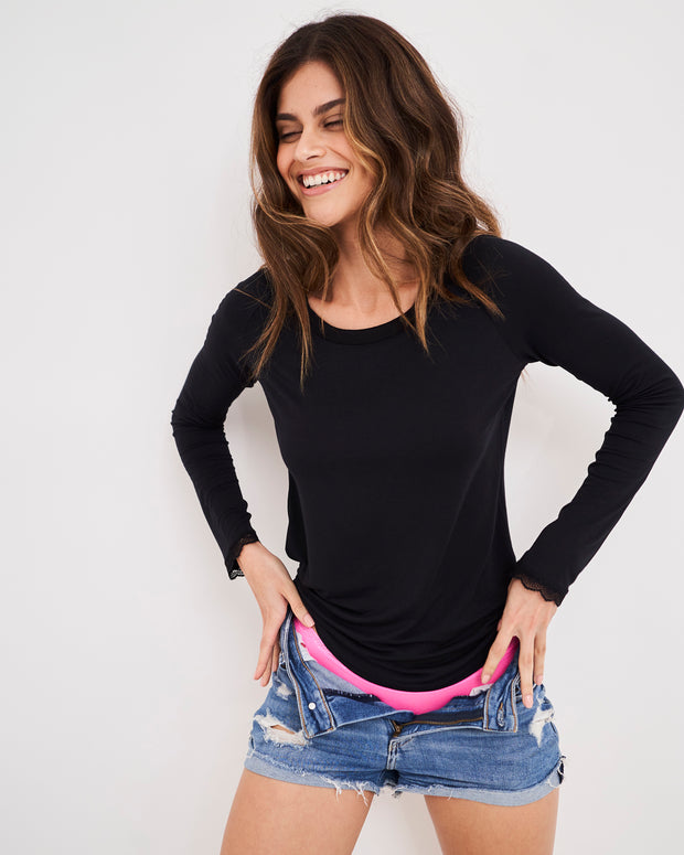 Essential Slouch Top - Black