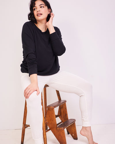 Cloud Lounge Pant & Black Sweatshirt Set