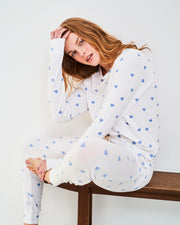 Lounge Pant & Sweatshirt Set - Blue Heart