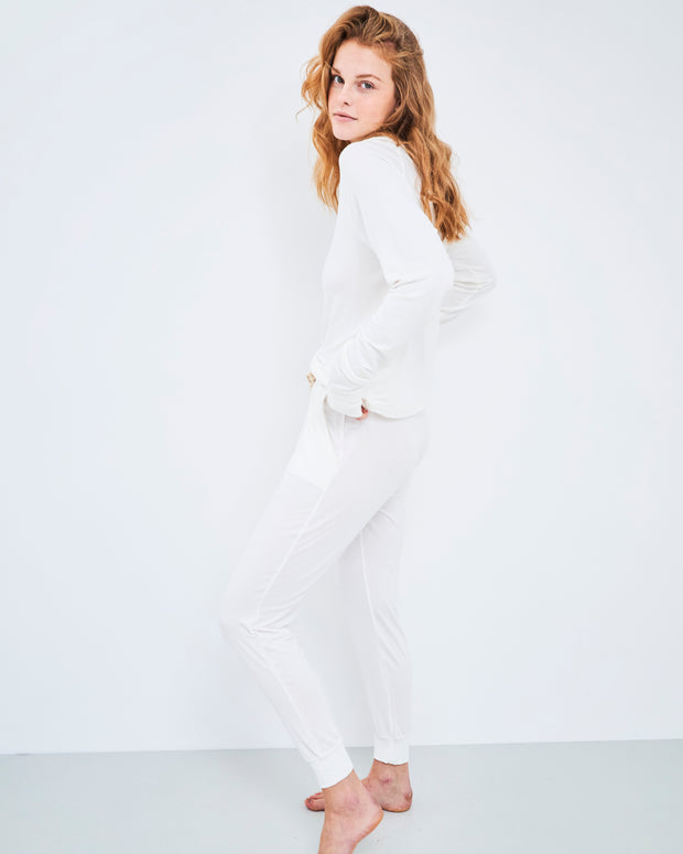 Lounge Pant & Sweatshirt Set - Cloud