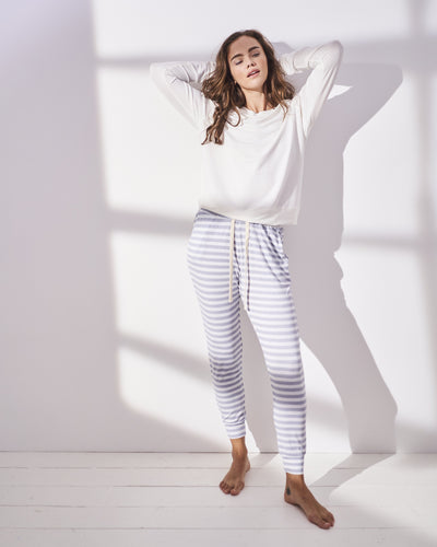 Lounge Pant - Grey Stripe