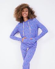 Lounge Pant & Hoodie Set - Forget-me-not