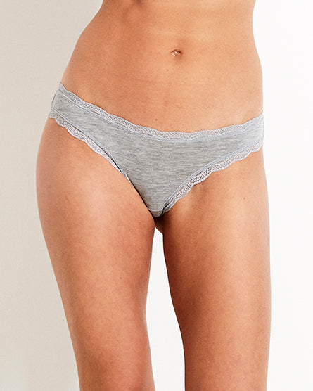 Grey Four Pack Knicker Box