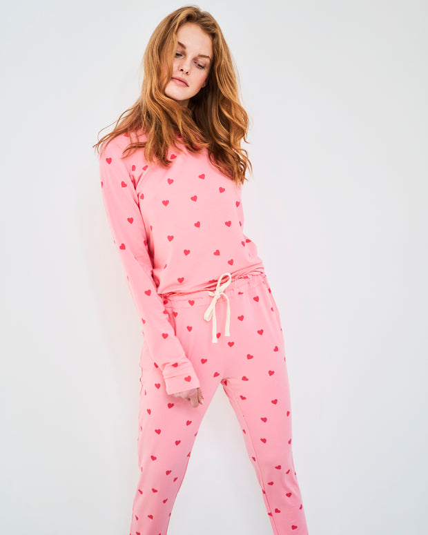 Lounge Pant & Sweatshirt Set - Heart Throb