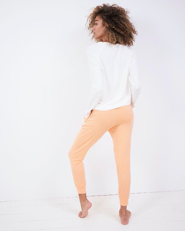 Mango Sorbet Lounge Pant & Cloud Sweatshirt Set