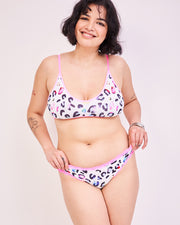 T-Shirt Bra & Knicker Set - Multi Leopard