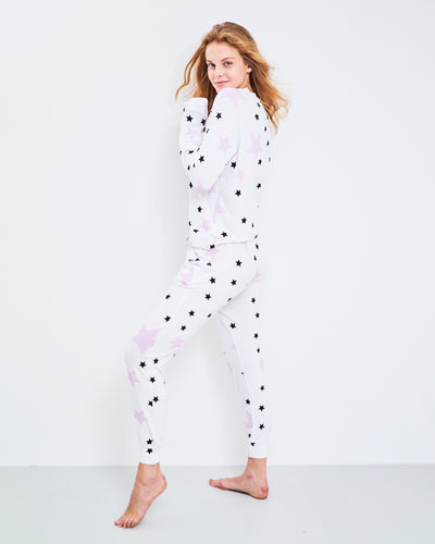 Lounge Pant & Sweatshirt Set - Pink Star
