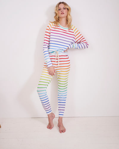 Sweatshirt & Lounge Pant Set - Rainbow Stripe