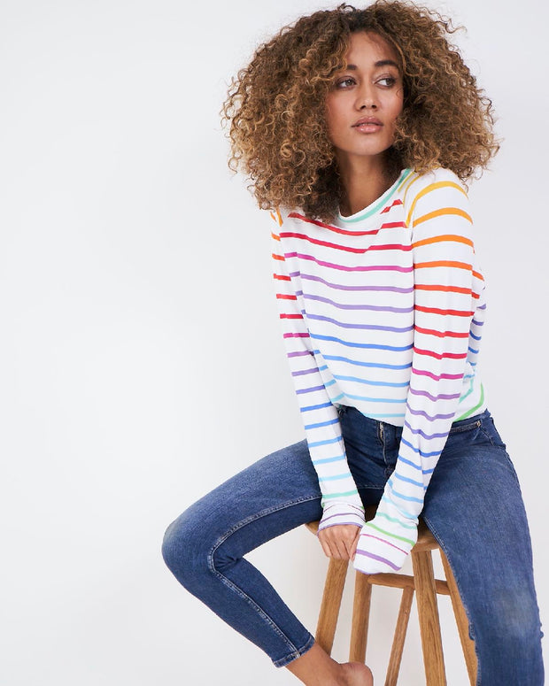 Sweatshirt - Rainbow Stripe