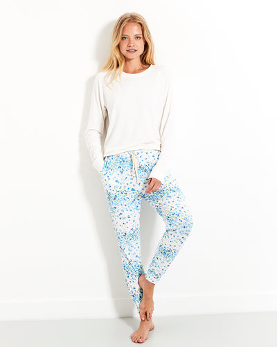 Periwinkle Lounge Pant & Cloud Sweatshirt Set