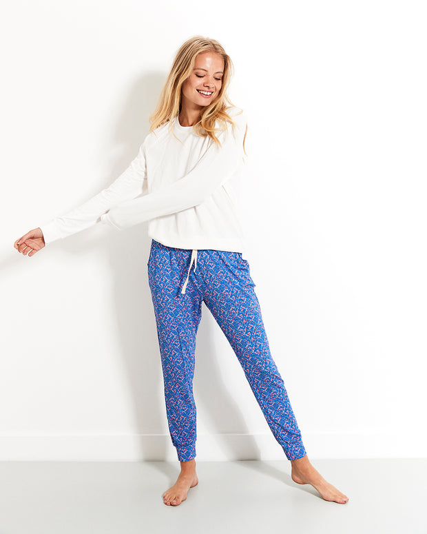 Forget-me-not Lounge Pant & Cloud Sweatshirt Set