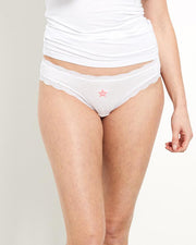 White with Pink Star Knicker