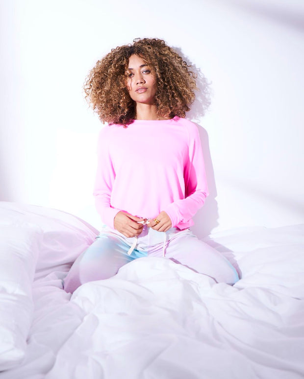 Watercolour Lounge Pant & Candy Floss Sweatshirt Set