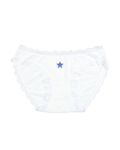White with Navy Star Knicker