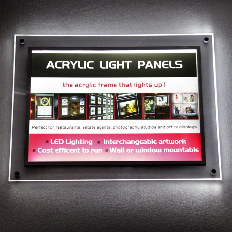 Acrylic LED Display Frames - Picture Bloc