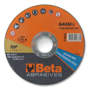 Beta 11034 Cutting Discs, Thin, with Flat Centre
