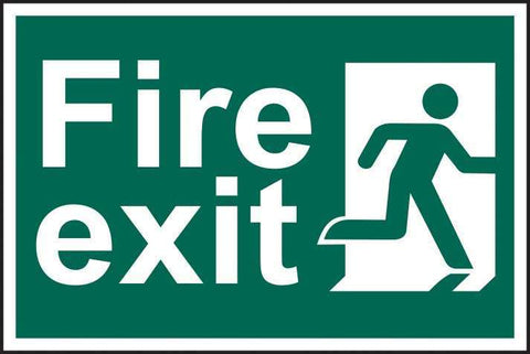 Fire exit man running right - PVC 300 x 200mm 1507