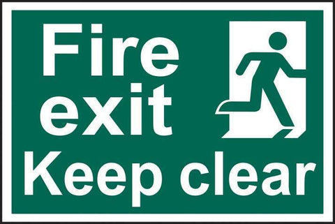Fire exit Keep clear - PVC 300 x 200mm 1513