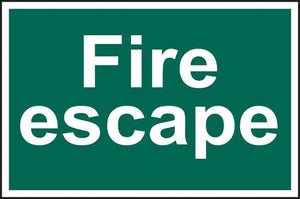 Fire escape - text only - PVC 300 x 200mm 1514