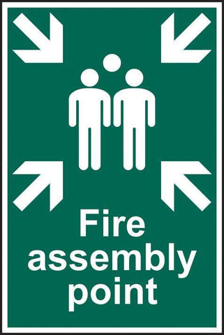 Fire assembly point - PVC 200 x 300mm 1541