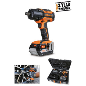 Beta 1984/18QM Reversible impact wrench, 18V, brushless