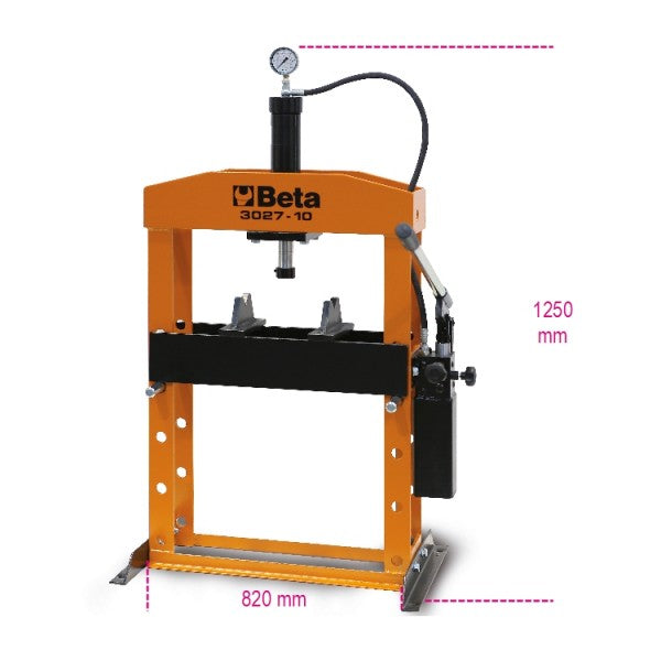 Beta 3027 10 Hydraulic bench press with moving piston