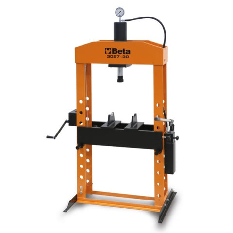 Beta 3027 30 Hydraulic press with moving piston and hoist