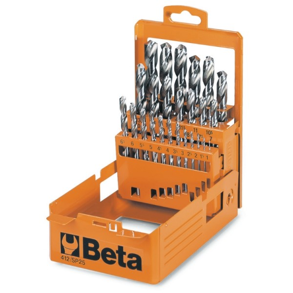 Beta Tools 412/SP.... Twist drills with cylindrical shanks, HSS, entirely ground glossy finishing