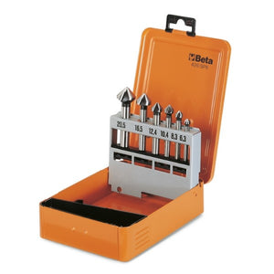 Beta 426/SP6 Set of countersinking cutters with three cutters, in ABS case