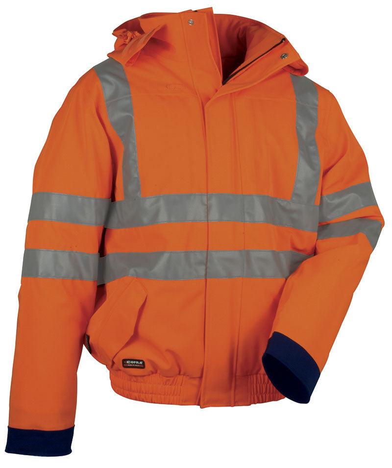 Cofra Fluo Hi Visibility Winter Padded Jacket 250g