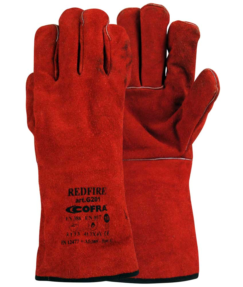 Redfire Leather CAT.II size 10-XL - Pack 12