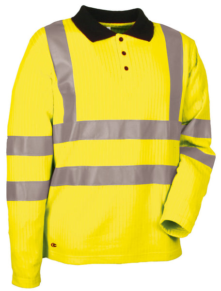 Cofra New Highway Hi Visibility Winter Polo Shirt 220g