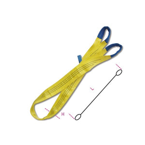 Robur Beta 8156 Lifting web slings, yellow 3t, two layers with reinforced eyes