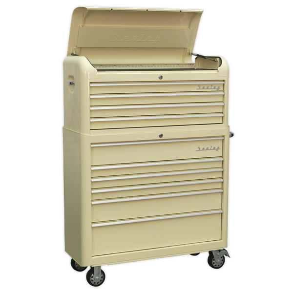 Sealey Retro Style Extra Wide Topchest & Rollcab Combination 10 Drawer AP41COMBO