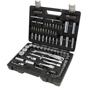 "Beta Easy 903E/C98 1/4"" and 1/2"" Drive 98 Piece Hex Socket, Offset Hex Key Wrenches"