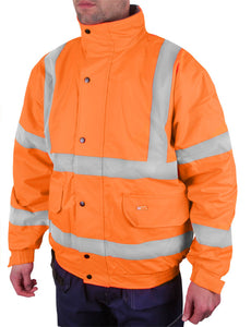 BOMBER JACKET FLEECE LINED HV ORANGE CBJFLOR