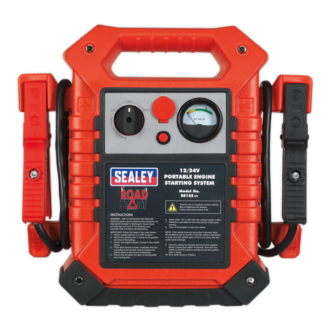 Sealey RoadStart® Emergency Jump Starter 12/24V 3000/1500 Peak Amps RS125
