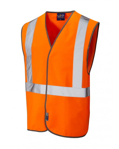 LAPFORD ISO 20471 Class 2 Railway Hook & Loop Waistcoat Orange W14-O