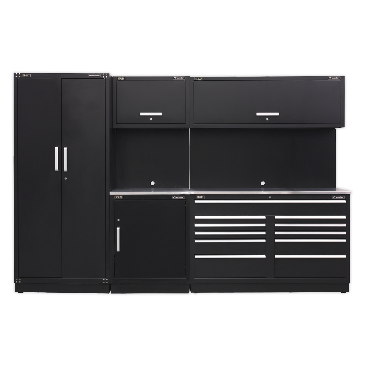 Sealey APMSCOMBO2SS Modular Storage System Combo - Stainless Steel Worktop