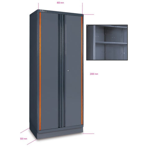 Beta C55A2 Sheet metal two-door tool cabinet, for workshop