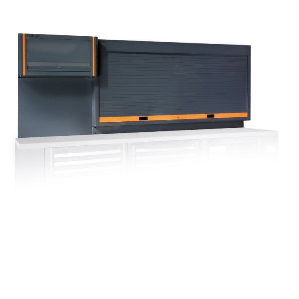 Beta C55PP Tool wall system with shutter and suspended cabinet, for workshop