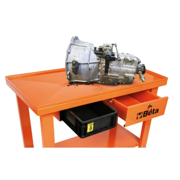 Beta CB52 Gearbox/transmission trolley with liquid recovery system