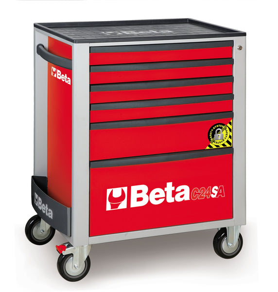 Beta Tool boxes C24SA/6 Mobile roller cab with six drawers, with anti-tilt system