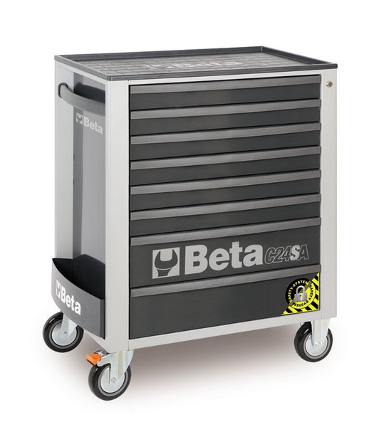 Beta Tool boxes C24SA/8 Mobile roller cab with eight drawers, with anti-tilt system