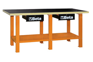 Beta Workbenches C56 W Workbench with wood top