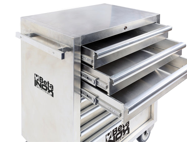 Beta toolboxes C04TSS - 7  Mobile roller cab w/ 7 drawers, made entirely of stainless steel
