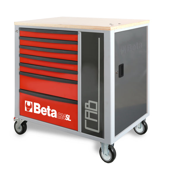 Beta Tool boxes C24SL-CAB Mobile roller cab with 7 drawers and tool cabinet