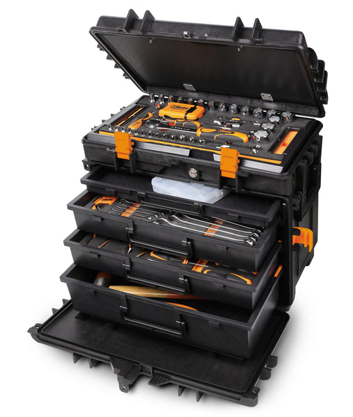 Beta toolboxes C14 Tool trolley, made of polypropylene, with 4 drawers