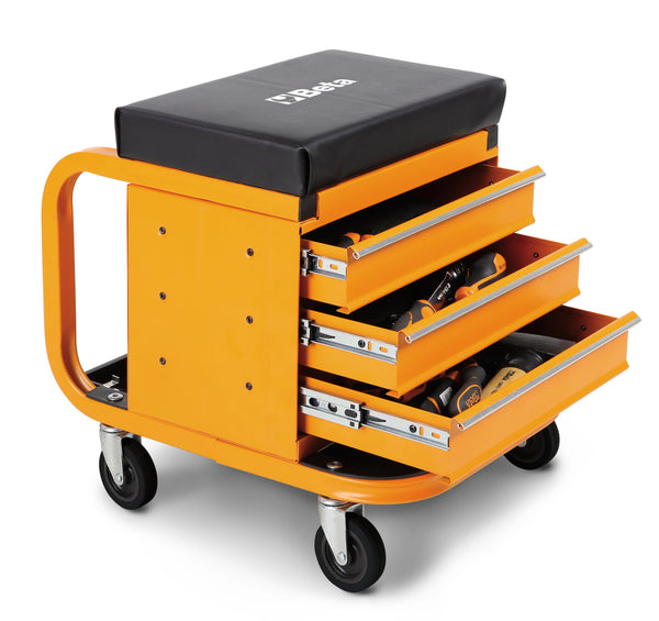 Beta Tools 2258-O Heavy duty creeper with tool chest