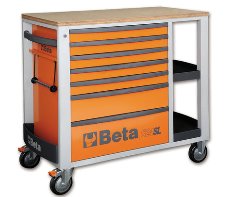Beta Tool boxes C24SL Mobile roller cab with seven drawers and side tops